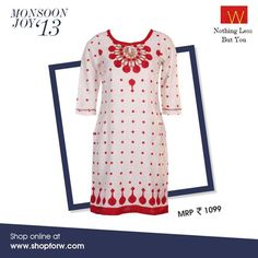 Will you don this gorgeous Kurta this #Navratri?  Make this yours here : http://shopforw.com/categoryProducts.php?catID=151&maincatName=In%20Stores&smallCat=Kurta