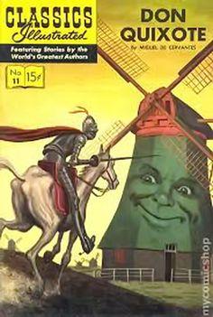 Don Quixote story in Classics Illustrated comic book