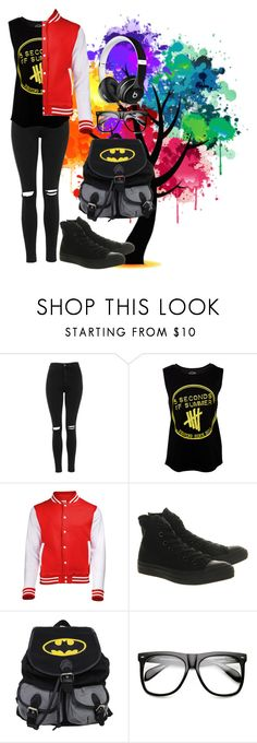 """5sos"" by thaisa-tcs ❤ liked on Polyvore featuring Topshop, Converse, INDIE HAIR and Beats by Dr. Dre"