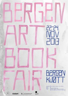 Bergen Art Book Fair - Poster on Behance