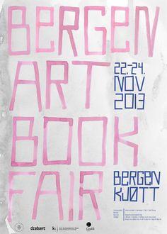 Bergen Art Book Fair - Poster on Behance