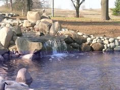 Pond designed and installed by Steve Coster and Northwind's Landscaping team.