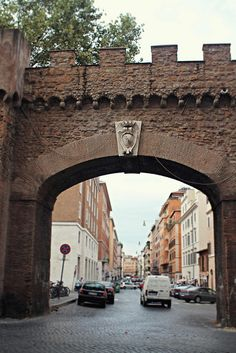 Arched Gate  in the original city wall - Rome, Italy