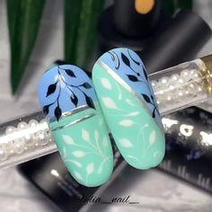 Nail Art Designs Videos, Nail Art Videos, Cool Nail Designs, Daisy Nail Art, Daisy Nails, Gel Nail Art, Nail Art Diy, Glam Nails, Bling Nails