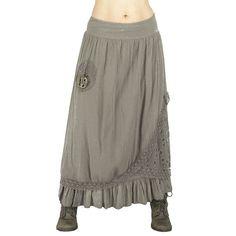 Jupe longue hippie bohème jupe longue shabby par LaCaravaneTzigane