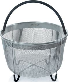 Hatrigo Instant Pot Accessories 6 qt Steamer Basket Available], Fits InstaPot Pressure Cooker, Insta Pot Ultra Egg Basket w/Silicone Handle and Non-Slip Legs (Instant Pot 6 Quart) Power Pressure Cooker, Electric Pressure Cooker, Instant Pot Pressure Cooker, Pressure Cooking, Best Steamer, Schuster, Egg Basket, Multicooker, Fun Cooking