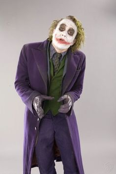 Heath Ledger, as The Joker.