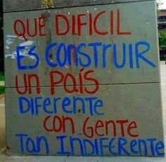 Gente indiferente Pretty Quotes, Power To The People, Truth Hurts, More Than Words, Word Porn, Street Signs, Wisdom, Positivity, Thoughts