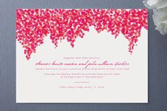 Bougainvillea Wedding Invitations by Laura Hankins at minted.com