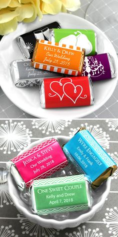 Personalized Mini Chocolate Bar Wedding Favors - hundreds of colors and themes!