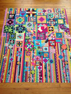 hot pink quilts: FF: Gypsy Wife Quilt Top Done!
