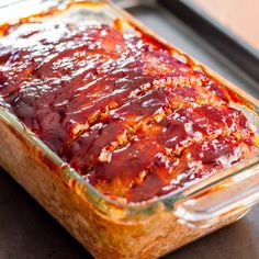 This easy meatloaf is a favorite at my house. It's the recipe we always use when we want meatloaf. It's perfect with a side of mashed potatoes.