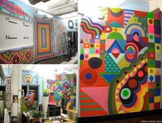 Maya Hayuk is great and it looks like the Etsy office would be a super fun place--like wandering through the studios at art school
