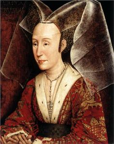 "Isabella of Portugal - Rogier van der Weyden (workshop).  c.1450.  Oil on panel.  18 5/8 x 14 1/4"".  J. Paul Getty Museum, Los Angeles CA, USA."