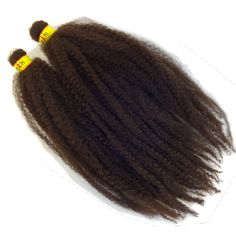 "Malibu Afro Kinky marley braid hair extensions by RastAfri measure 19"" long (38"" unfolded) and are great for faux locs, twists, and crochet! Color: 4 Dark Brown."