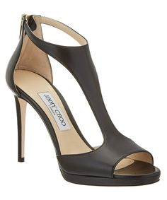 Jimmy Choo Jimmy Choo Lana 100 Leather T-Bar Sandal at Bluefly.com.