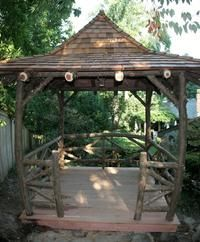 Landscape Architecture Raleigh Durham - NC Landscape Architects and Designers – Rustic Garden Structures - Rustic Garden Structures of NC Outdoor Spaces, Outdoor Living, Outdoor Ideas, Gazebo Ideas, Pool Ideas, Garden Structures, Outdoor Structures, Construction Area, Garden Arbor