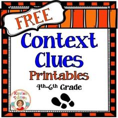Context Clues FREE Printables!  These Context Clues Printables offer print and go, common core aligned, context clues activities for 4th-6th grade.  This product includes four instructional pages to help students search for context clues in text, 1 reading passage, and one multiple choice printable that corresponds with the reading passage.  Enjoy!