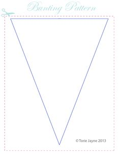 Fabric bunting pattern
