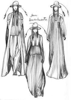 Fashionary Drawing 2 by Vikki Yau, via Behance