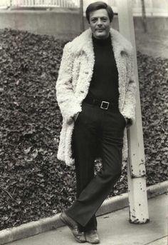 Portrait of Marcello Mastroianni, 1972 Marcello Mastroianni, Celebrities Then And Now, Italian Men, Elegant Man, Funky Fashion, Fashion Men, Hollywood Celebrities, Gentleman Style, Sexy Men