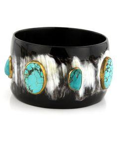 Ashley Pittman | Zuri Bangle in Dark Horn | Bracelets & Cuffs | Jewelry