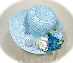 Girls Easter Bonnet Tea Party Hats Sunbonnet  by Marcellefinery