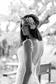 carita adams 2015 bridal embroidery strap sweetheart neckline trumpet a line wedding dress bella back view
