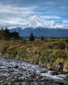 Mt Taranaki from the Waiaua River.. #mttaranaki #mountain #volcano #taranaki #taranakilikenoother #newzealand #nz #paradise #kiwipics #nzmustdo #gottalovenz #destinationnz #metservice #newzealandvacations #thisisnz #beautifulnz #nzimagery