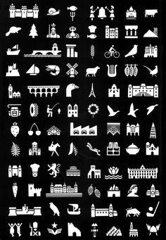 Jean Widmer - Pictogrammes pour indiquer les sites touristiques le long des autoroutes françaises