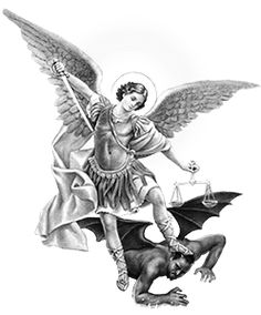 """Saint Michael Archangel to Luz de Maria – """"What would happen if at this very instant the Antichrist were to appear and call you to seal yourselves? How many would stay faithful to God? Aztec Tattoos Sleeve, Half Sleeve Tattoos Designs, Angel Tattoo Designs, St. Michael Tattoo, Archangel Michael Tattoo, Sketch Tattoo Design, Tattoo Sketches, Maria Tattoo, Saint Tattoo"""