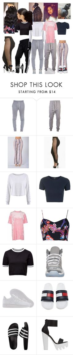 """✨"" by xglodollx ❤ liked on Polyvore featuring I Love Ugly, adidas, Gypsy Soul, Topshop, Motel, French Connection, Retrò and NIKE"