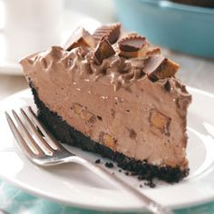 Peanut Butter Cup Pie Recipe - Holidays (I've made this before and it's awesome)