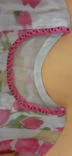 Kurta Neck Design - Her Crochet Source by Blouses Chudithar Neck Designs, Neck Designs For Suits, Sleeves Designs For Dresses, Neckline Designs, Dress Neck Designs, Kurti Back Neck Designs, Salwar Designs, Salwar Suit Neck Designs, Kurta Neck Design