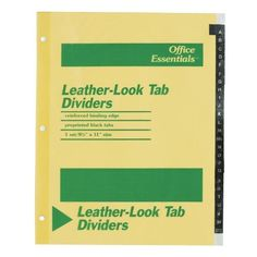 Avery A-Z Leather-Look Tab Dividers - Printed A - Z - 8.5 x 11 - 1 Set - Buff Divider Dividers: Paper Letter - 8.50 Width x 11 Length. Product Type: Index Divider. Assembly Required: No. Divider Color: Buff. Packaged Quantity: 25 / Set.  #Avery #SingleDetailPageMisc