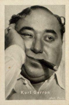 Kurt Gerron #theater #kabarett #cabaret #cigar #sepia #portrait #vintage