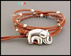 Boho LEATHER Wrap Bracelet Pick SIZE Toho by WrappedinYou