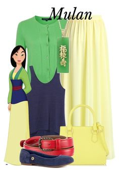 """""""Mulan>>~Ariel"""" by the-circle-of-disney ❤ liked on Polyvore featuring French Connection, Chicwish, Rebecca Minkoff, CHARLES & KEITH, DeWitt, Bottega Veneta, UGG Australia and whozitsandwhatzits"""