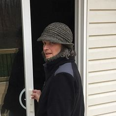 I like a hat with a brim – it keeps rain and snow off my face, and shades my eyes on the rare, sunny day during an Ohio winter. This hat does all that and more. Knitted at a tighter than recommended gauge, it also helps keep me warm, even on a windy day.