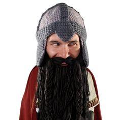 Beard Hat Beanie - Funny Dwarf Knit Beard Head