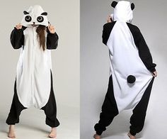 Lounge around chewing bamboo (or something tastier) with this awesome panda onesie! Its so soft and fluffy everyone will be queuing for bear hugs! Made from coral fleece and available in different sizes. Pyjamas, Onesie Pajamas, Cute Pajamas, Panda Costumes, Onesie Costumes, Lazy Day Outfits, Cute Outfits, Cute Onesies, Modelos Fashion