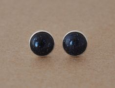 Goldstone earrings handmade with Sterling by J4JewelleryStudio