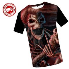 392c6b37f9deb Skull Shirts Design For Mens Woman 3D Printed Skull Logo Print T Shirt Plus  Size