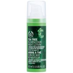 The Body Shop Tea Tree Blemish Fade Night Lotion 1.01 fl oz (30 ml) (€19) ❤ liked on Polyvore featuring beauty products, skincare, face care, face moisturizers, beauty, filler, oil free face moisturizer и the body shop