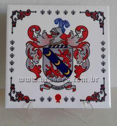 Azulejo personalizado em sublimação com brasão de Família Barbosa E Tattoo, Playing Cards, Sketches, Playing Card Games, Game Cards, Playing Card
