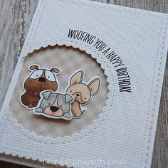 Happy Friday! This is the first of three cute animal cards that were made using…