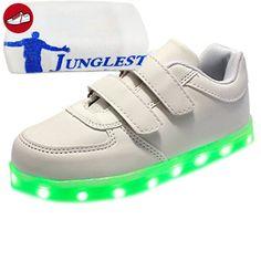 [Present:kleines Handtuch]Weiß 46 EU Unisex LED weise High Farbwechsel Hohe Top Turnschuhe Licht 7 Schuhe Blitzen fxjbzywVL