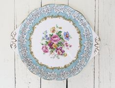 Vintage Cake Plate English Plate Collectible Platter by Swede13