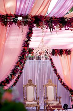 Purple and peach wedding decor , Chandelier , bride and groom seat , destination wedding decor , mandap Goa Wedding, Indian Wedding Receptions, Destination Wedding Decor, Romantic Wedding Decor, Wedding Mandap, Wedding Stage Decorations, Funny Wedding Invitations, Wedding Story, Real Weddings