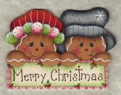 CHRISTMAS GINGERBREAD COUPLE CLIPART